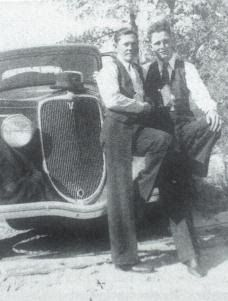 Clyde and Leon C Barrow.  Leon was the youngest brother and the only one who went straight.