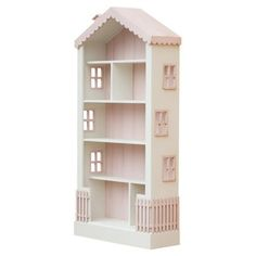 Alice's Dollhouse Bookcase $1,400 at One Kings Day. If I could DIY this in different colors, my niece would have one by now.