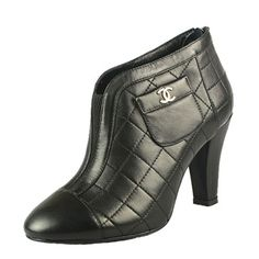 Chanel Pocket Outside Ankle Boots