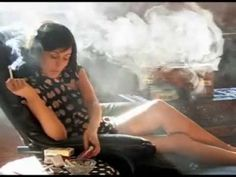 Brunette Smoker - YouTube