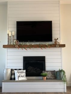 All colors in our house - The house of the silver liningAll colors in our house - The house of the silver amazing modern fireplaces that will leave you amazing modern fireplaces that Shiplap Fireplace, Farmhouse Fireplace, Home Fireplace, Fireplace Remodel, Fireplace Design, Fireplace Ideas, Diy Faux Fireplace, Fireplace Decorations, Custom Fireplace