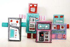 alisaburke: Reycled Robot Monsters