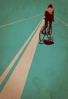 Bike on blue