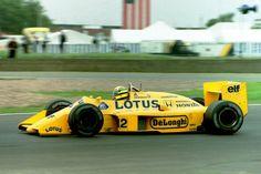 Ayrton Senna, Lotus-Honda 99T, 1987 British GP, Silverstone