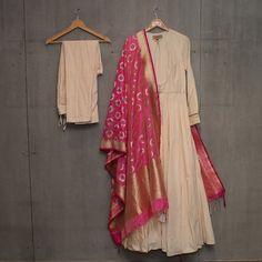 Matsya ~ Gold New collection . Now Available at , , , SAMARA Indore Salwar Kurta, Sharara Suit, Patiala, Anarkali, Lehenga, Indian Gowns Dresses, Indian Outfits, Simple Kurtis, Frock Design