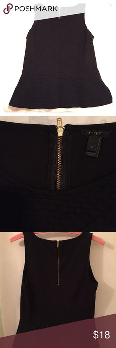 J. Crew black peplum top S J. Crew black peplum top size small. Good condition, only wore it a couple of times. The tag is coming loose but that's the only flaw. J. Crew Tops Tank Tops
