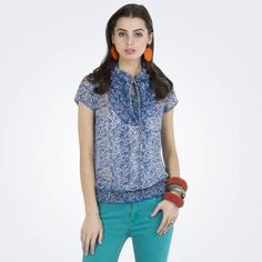 For a look that is in vogue, get this fashionably designed blue printed top that is high in style. buy hare: http://zovi.com/blue-printed-top-with-frills-at-neck--S136WOF000801
