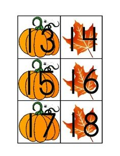 This is a simple AB pattern for a October/November calendar with pumpkins and Fall Leaves.