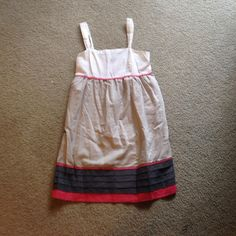White/Grey/Pink dress Casual dress to a T! This is oh so comfortable and 90% cotton! Has some stretch in the back and a zipper on the side! Even has adjustable straps! Great dress to wear on those hot summer days! TCEC Dresses Midi