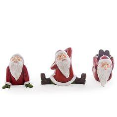 Club Pack of 12 Holiday Traditions Yoga Posing Santa Christmas