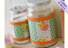 Mod Podge Kitchen Canisters