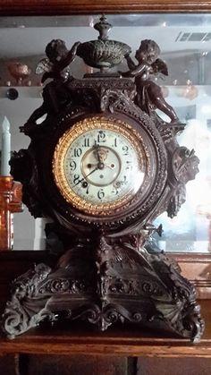 """Ansonia clock, named Lydia made in 1894 . Original cost new $ 56.00 """