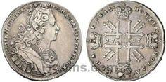 1 рубль 1727 года  Материал чеканки монеты: Серебро(Ag) Вес монеты: 28,45 г Гурт: надпись Состояние данного экземпляра: VF(VeryFine)-XF(ExtraFine) Стоимость монеты 1 рубль 1727 года:   1220 CHF Стоимость монеты по металлу составляет 1060 р по ценам на 26.01.2016