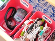 New Uses for Binder Clips - Home Organizing Hacks - House Beautiful | Cord Clips