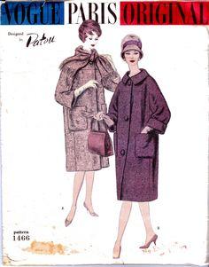 50s PATOU Womens cappotto modello Vogue Parigi 1466 originale Vintage cartamodello taglia 14 busto 34 pollici con etichetta INUTILIZZATI FF di allthepreciousthings su Etsy https://www.etsy.com/it/listing/213161364/50s-patou-womens-cappotto-modello-vogue