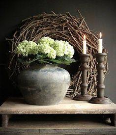 Oude Kruik circa 150 jr oud - Gabriela L - Country Decor, Rustic Decor, Farmhouse Decor, Deco Floral, Arte Floral, Wabi Sabi, Rustic Charm, Rustic Style, Deco Nature