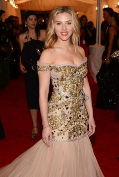 Scarlett Johansson at the Costume Institute Gala at the Met