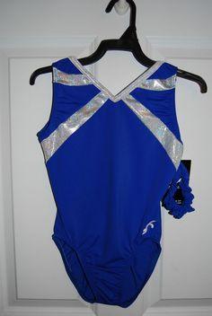GK Elite Gymnastics Leotard - Adult X-Small - Royal/White Sparkle in Sporting Goods, Team Sports, Gymnastics   eBay