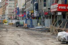 Travaux majeurs à Montréal: les commerçants touchés seront indemnisés Street View, Middle Fingers