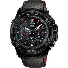 Casio - Edifice - 5-Motor Drive - EQWM710L-1A Casio. $448.99. Brand:Casio. Band color: black. Dial color: black/red numerals. Model: EQWM710L-1A. Condition:brand new with tags