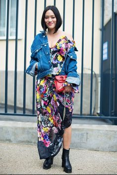 The Outfits Fashion Girls Are Wearing in Paris Right Now via @WhoWhatWear