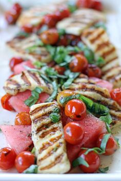 Watermelon and Haloumi Salad - Ang Sarap