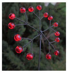 Vánoční zápich....vločka barevná na přání (3 ks)