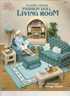 Holy Crap! My old Barbie furniture I thought was gone forever. Must order this book and learn this plastic canvas stuff!