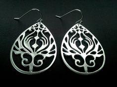 Peacock In Teardrop Pendant Earrings dropDangle by LaLaCrystal, $22.00