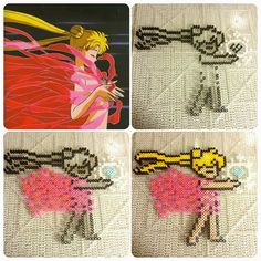 Sailor Moon perler fuse beads by b.dawg.skip
