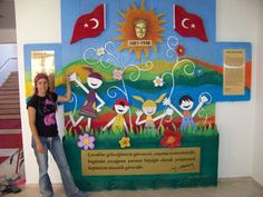 atatürk köşesi sınıf panosu - Google'da Ara Future Classroom, Classroom Decor, Turkey Holidays, Crafts For Kids, Arts And Crafts, National Holidays, Child Day, 4 Kids, Pre School