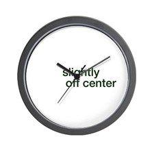 SLIGHTLY OFF CENTER Wall Clock