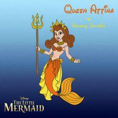 Queen Attina by *Ant-Jef-illustration on deviantART