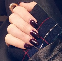 Dark Oval Nails