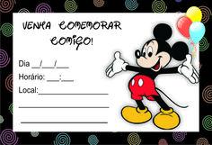 Rótulos & Cia: Convites Minnie e Mickey