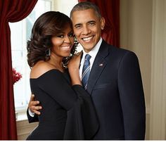 Beautiful photo of First Lady Michelle Obama and President Barack Obama, 44th President of the U.S. (2009-2017).