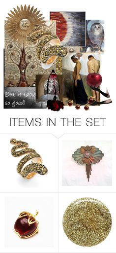 """But...it tasted so good!"" by plumsandhoneyvintage ❤ liked on Polyvore featuring art"