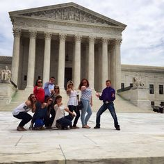AQHYA members Ashley Anderson, Kalee McCann, Ann Elizabeth Tebow, Brock Murphy, Katelyn Womack, Mary Claire Cornett, Paige Wacker, Maura Hynes, and Wyatt Marshall at the Supreme Court building in Washington, DC! Thanks to Farnam these AQHYA members will tackle industry issues and tour the capital this week. #AQHAProud #AHCNationalIssuesForum2015