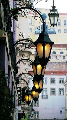 Public lighting in the square of Figueira - Lisboa - Portugal Sintra Portugal, Spain And Portugal, Street Lamp, Design Your Home, Home Look, Architecture Details, Outdoor Lighting, Light Up, Beautiful Places