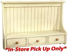 High back shelf with drawers. Drawer Shelves, Shelf, Old Doors, Wood Ideas, Drawers, Windows, Storage, Furniture, Home Decor