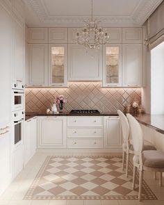 Kitchen Room Design, Home Room Design, Modern Kitchen Design, Home Decor Kitchen, Interior Design Kitchen, Log Home Kitchens, Fancy Kitchens, Elegant Kitchens, Luxury Kitchens