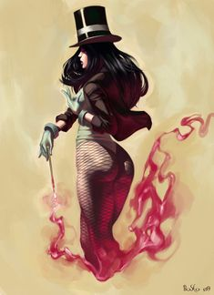 Zatanna, The Mistress of magic...You'd think pants would be a good thing for a female super hero...Not sure if I should complain though