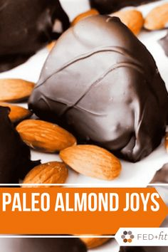 Paleo gluten-free homemade alternative to the store bought candy. These are easy to make and can be stored in the freezer for a sweet treat to satisfy your sweet tooth! Healthy Living Recipes, Paleo Recipes, Free Recipes, Healthy Food, Fed And Fit, Classic Candy, Clean Eating Desserts, Almond Joy, Gluten Free Snacks