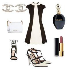 """Black & White dress"" by mlincsekteca on Polyvore featuring Mode, ALDO, Valentino, Michael Kors, Chanel, Roberto Cavalli, women's clothing, women, female und woman"
