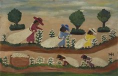 Cotton Picking Clementine Hunter (1887–1988) The American Museum in Britain