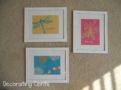 Decorating Cents: Sweet Girl's Room: Easy DIY Art