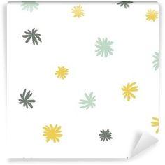 Fototapeta Samoprzylepna Wektor bez szwu cute minimalistyczny wzór kwiatowy.