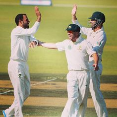 Fawad Ahmed collected two wickets in two balls against South Africa A overnight #Cricket #AustraliaA