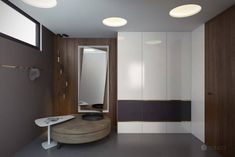 Studio Tolicci have designed this stylish, family residence in Bratislava, a main challenge ware to re-create a perfect new modern design with a historical Modern Entrance, Entrance Hall, Bratislava, Grey Stripes, Modern Design, Furniture Design, Household, Bathtub, Interior Design