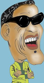 CARICATURAS DELBOY: RAY CHARLES